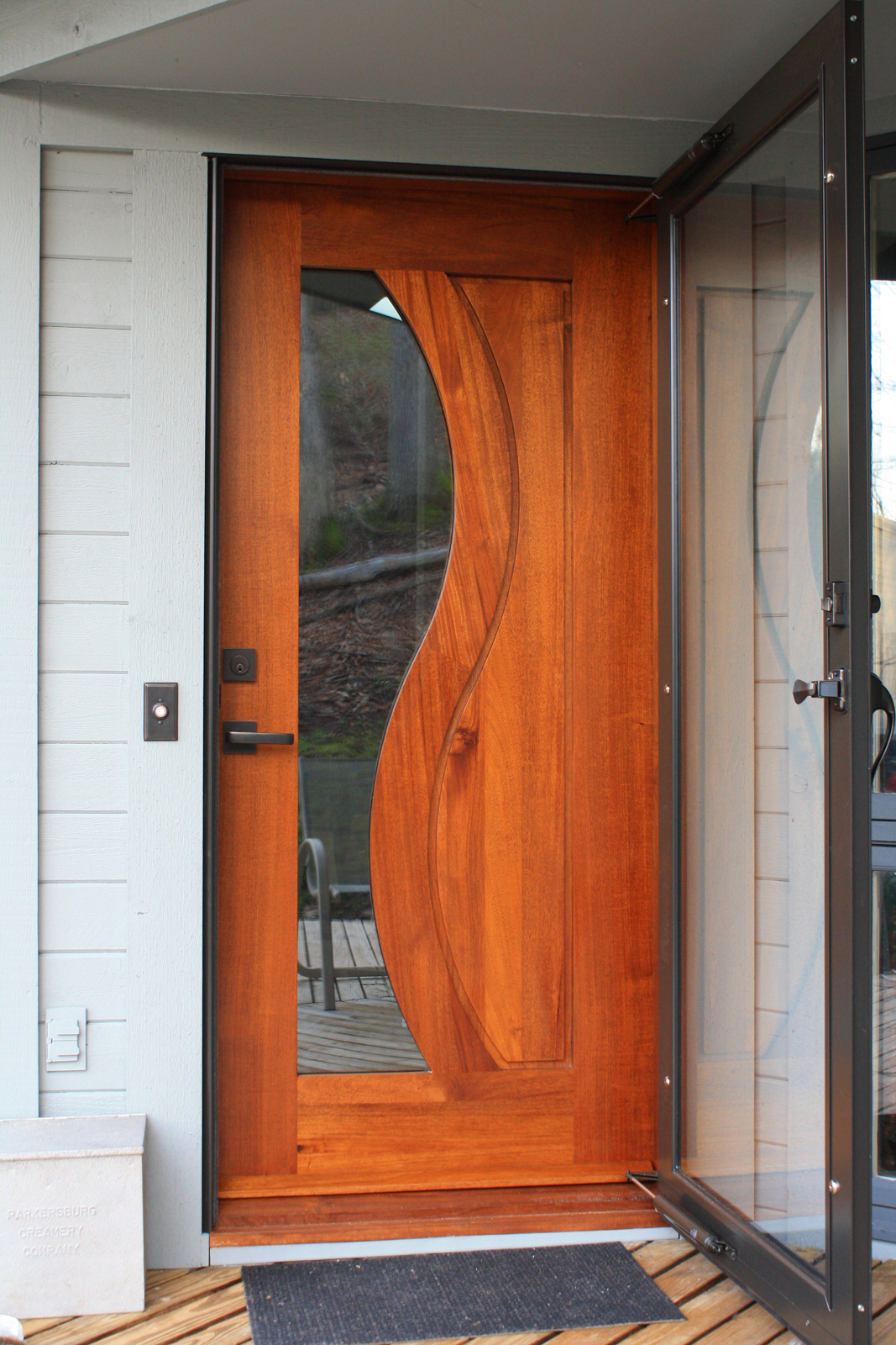 Modern front door with glass panel door french doors for Glass front doors